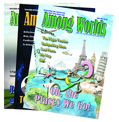 Picture of a Collection of Among Worlds Magazine Covers